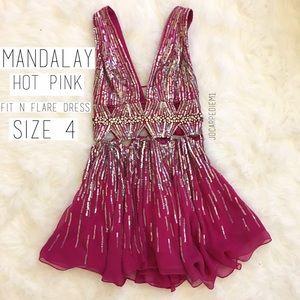 Mandalay Fuchsia Pink Sequin Dress