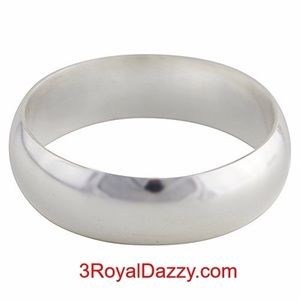 3 Royal Dazzy Jewelry - 999 Silver high polished Ring Band 5.5 mm Size 3.5