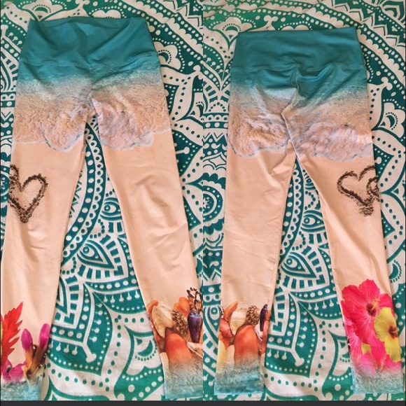 0e8e4656710f5 Om shanti Pants   Yoga Leggings Heart In The Sand Small   Poshmark