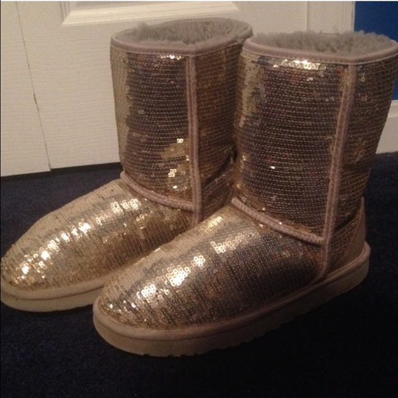 ugg gold sequin boots