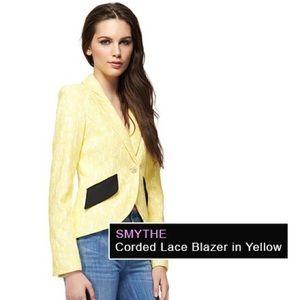 Smythe Jackets & Blazers - SMYTHE  Corded Lace Blazer in yellow ( Lemon)