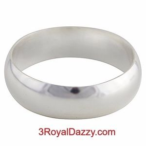999 Silver high polished Ring Band 5.7 mm Size 6