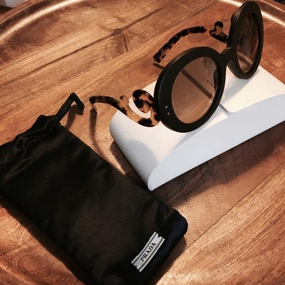 440ee2d5bd38 ... real new prada baroque wood sunglasses authentic 46b1f 7255d ...
