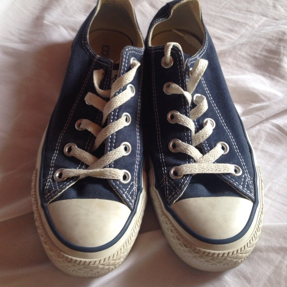 e8ebd6ee1447a0 Converse Shoes - Worn once - navy blue converse
