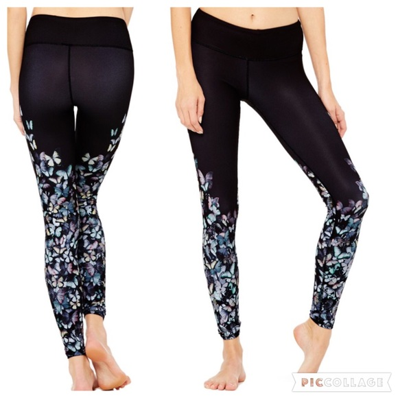 df0cf24012eb22 ALO Yoga Pants   Gypset Goddess Butterfly Airbrush Nordstrom   Poshmark