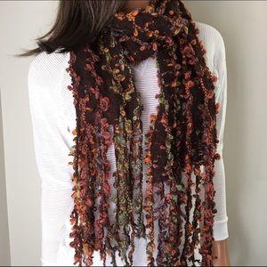 J. Jill Accessories - J. Jill Multicolored Brown Knit Scarf