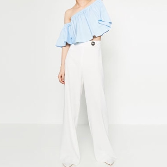 e1c7ad22 Zara Pants   White Palazzo   Poshmark