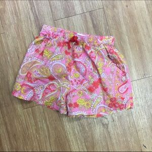 Pink Chicken Other - Pink chicken paisley camp shorts girls 6
