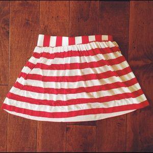Mimi Chica Dresses & Skirts - Mimi Chica Red & White Stripped Mini Skirt