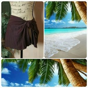 Catalina Other - Yummy chocolate brown skirt swim cover up