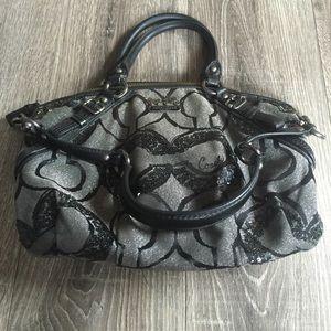 Coach CC Sequin Handbag Bag Op Art Madison Sophia