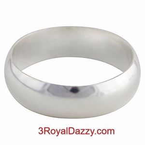 999 Silver polished  Ring Band 5.5 mm Size 8.5