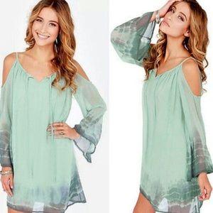 Sea green mini dress