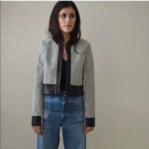 EDUN Jackets & Blazers - NWT Edun Black & White Leather Jacket