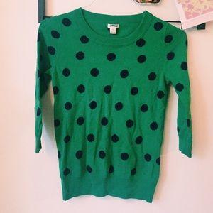 b0abda8567 J. Crew Sweaters - J. Crew New Girl Zooey Deschanel polka dot sweater