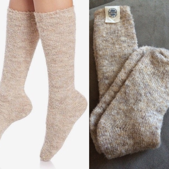 f480cce67be NWT free people fuzzy knee high boot socks