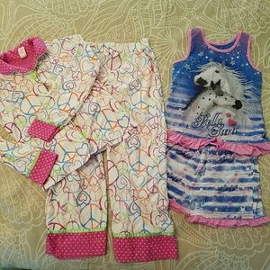 Other - 2 pairs pajamas, sizes 6X and 7, EUC
