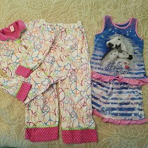 Other - 2 pairs pajamas, sizes 6X and 7, EUC