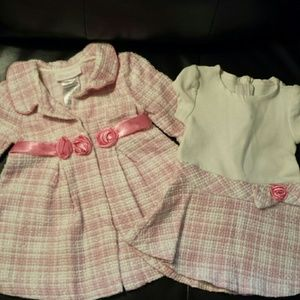Bonnie Baby Other - Bonnie Baby Dress & Coat Set
