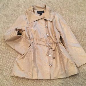 Fabulous Furs Jackets & Blazers - Gold faux snakeskin lightweight jacket