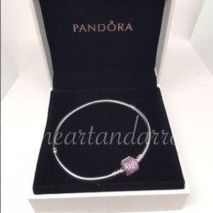 Pandora Jewelry - Pandora signature pink cz pave bracelet