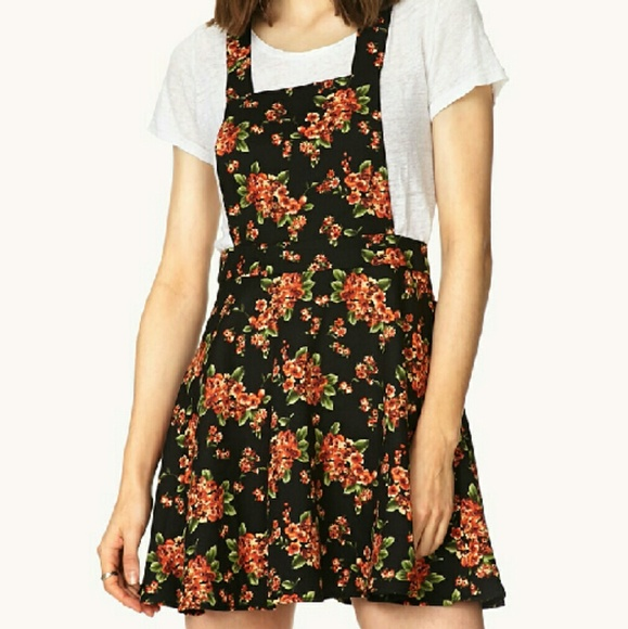 0c64ec1500 Forever 21 Dresses & Skirts - Forever 21 Floral Overall Dress