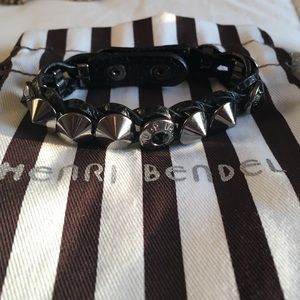 Henri Bendel black spiked bracelet