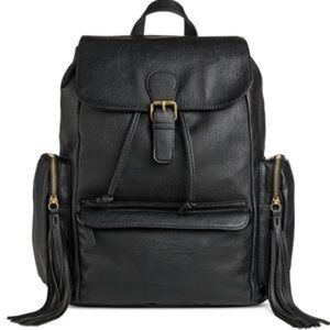 Handbags - Faux Leather Backpack Purse