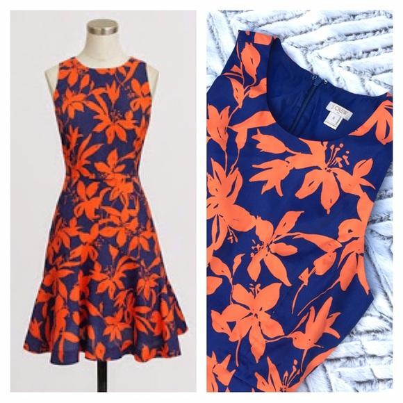 Orange and Blue Dresses