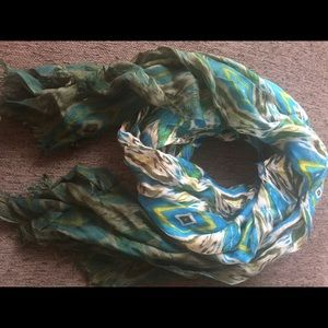 Accessories - Beautiful blue and green scarf