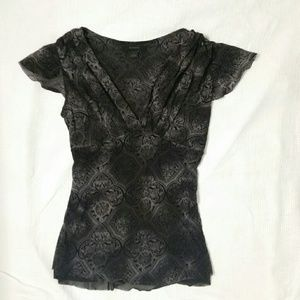 Express Black and Gray V top size Small S blouse