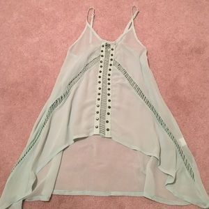 Forever21 studded cutout chiffon top