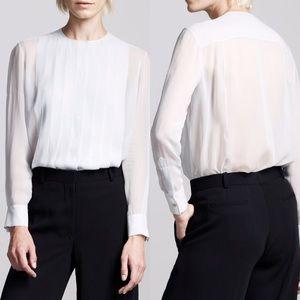 The Row Tops - The Row Silk Pleated Blouse