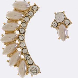 """Jewelry - """"Mel"""" Ear Crawler Set Gold or Silver Ear Cuff NWT"""