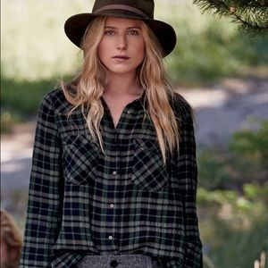 Free People Woodmen Plaid Shirt