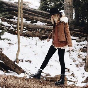 Free People Extreme Sherpa Lined Jacket *VEGAN*