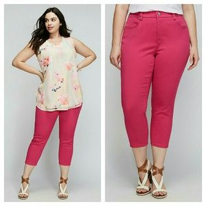 Melissa McCarthy Pants - PENCIL CAPRI SEVEN7 skinny pants jeans pink