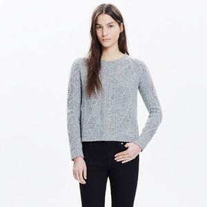 Madewell Palisade Zip Back Sweater