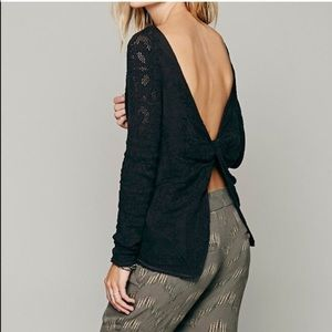 Free People Open Back Twist Sweater