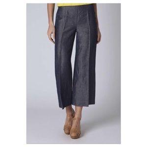 Anthropologie Denim - Cartonnier Hanna Linen Wide Leg Culottes