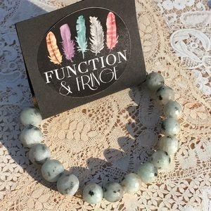 Function & Fringe Jewelry - Function & Fringe Sesame Jasper Bracelet