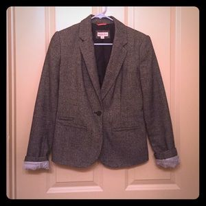 Blue and white patterned blazer