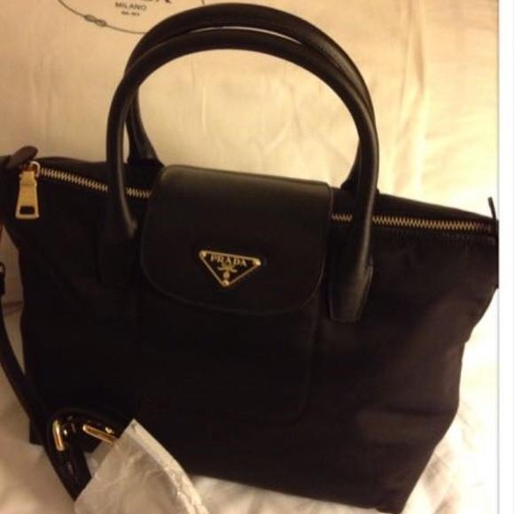 3705d1402e Prada BN2016 Nylon Tote Bag Black - NOTRADE