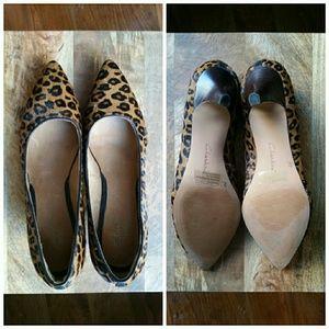 49d4a785dd93 Clarks Shoes - Indigo by Clarks 9.5 Leopard Pony Hair Kitten Heel