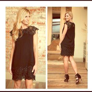 Infinity Raine Dresses & Skirts - Black Lace Embellished Dress
