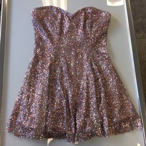 Lucca Couture Dresses & Skirts - Lucca Couture Pink Sequin sweetheart dress small