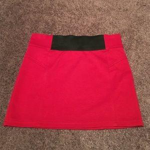 Dresses & Skirts - Red & black bandage skirt