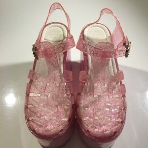 UNIF Shoes - UNIF GLITTER JELLY PLATFORM BUCKLE SANDAL