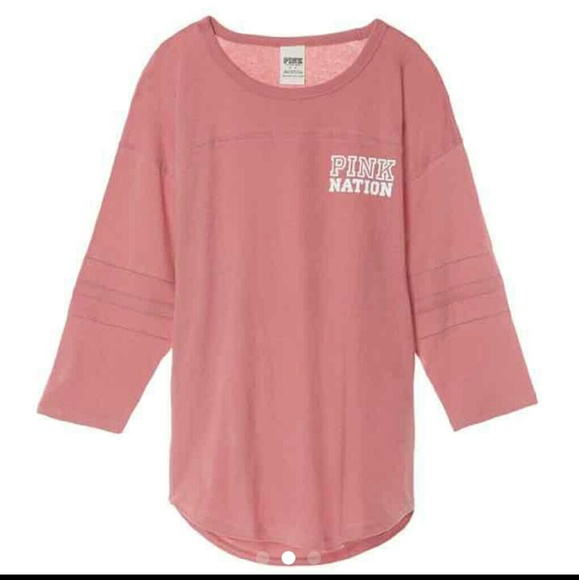 PINK Victoria's Secret - PINK Nation soft begonia boyfriend shirt ...