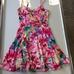 Lucca Couture Dresses & Skirts - Lucca Couture Pink Floral Flare Dress Size XS New